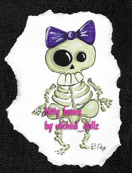 Art: Bitty Bones by Artist Noelle Hunt