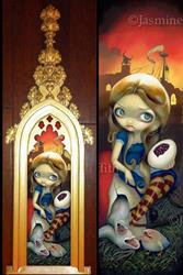 Art: Alice in a Brueghel Vision ORIGINAL by Jasmine Ann Becket-Griffith