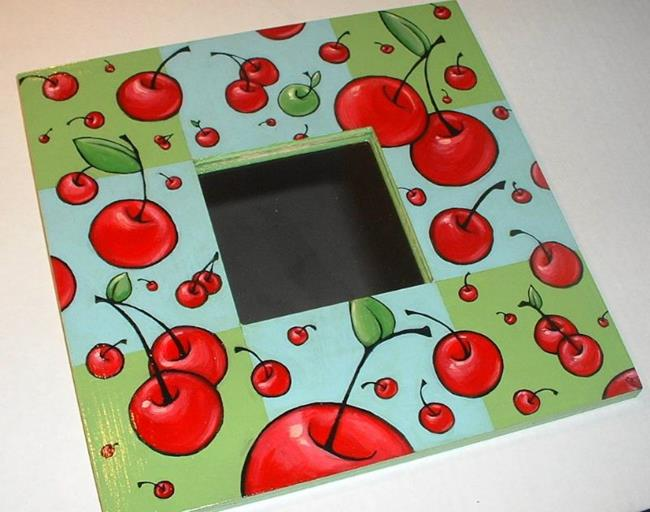 Art: Cherries Mirror by Artist Cary Dunlap Daly