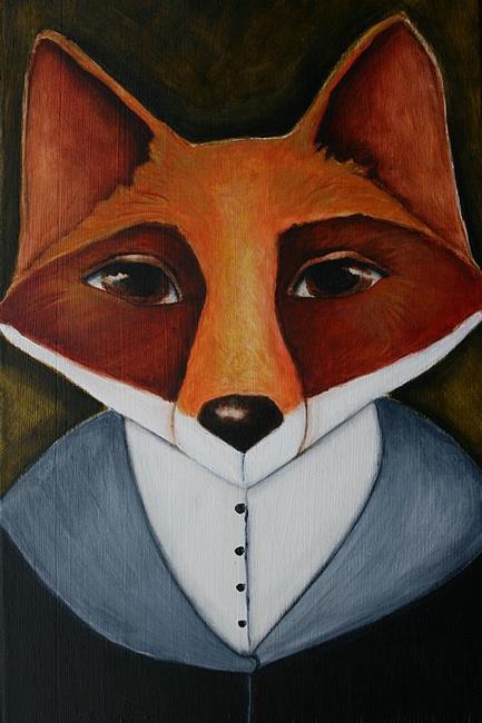 Art: Finnegan Fox by Artist Deb Harvey