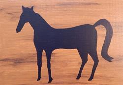 Art: Black Horse by Artist Dee Turner