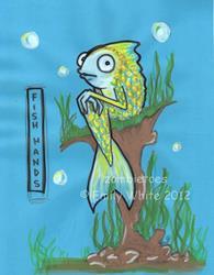 Art: Fish Hands by Artist Emily J White
