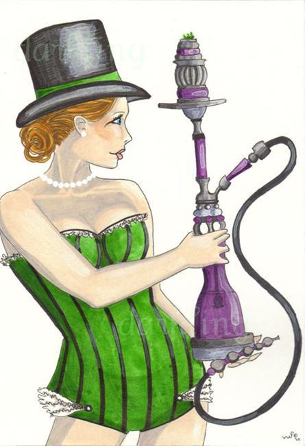 Art: Green Smile by Artist Emily J White