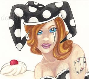 Detail Image for art Velveteen jester pin up art