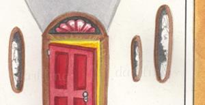 Detail Image for art Red Door Black