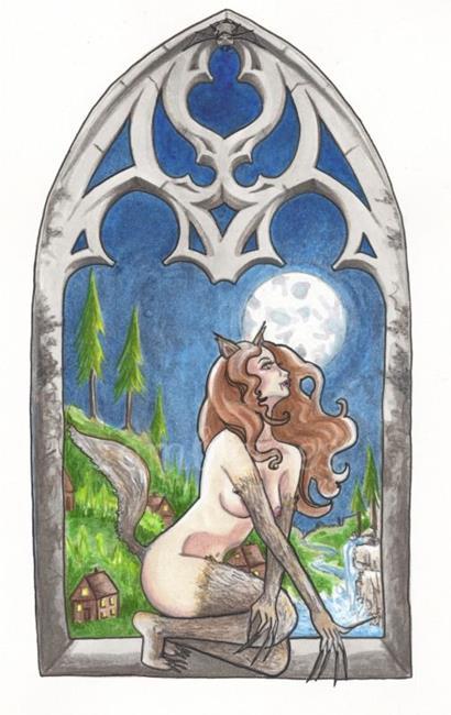 Art: Midnight Monster- Werewolf by Artist Emily J White