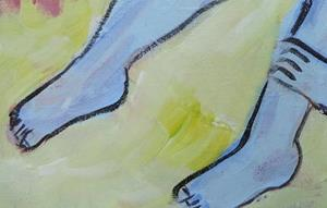 Detail Image for art little girl blue