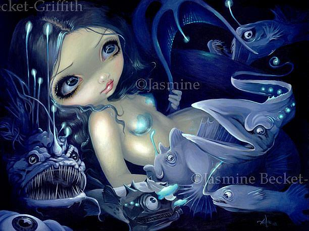 Art: In the Abyss ORIGINAL PAINTING by Artist Jasmine Ann Becket-Griffith