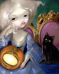 Art: Les Vampires: Lanterne-Citrouille by Artist Jasmine Ann Becket-Griffith