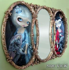 Detail Image for art Looking-Glass Queens (Framed Mirror Original Version) l