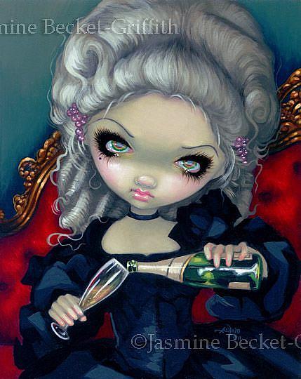 Art: Have Some Champagne ORIGINAL by Artist Jasmine Ann Becket-Griffith