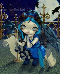 Art: Quoth the Raven Nevermore ORIGINAL PAINTING by Jasmine Ann Becket-Griffith