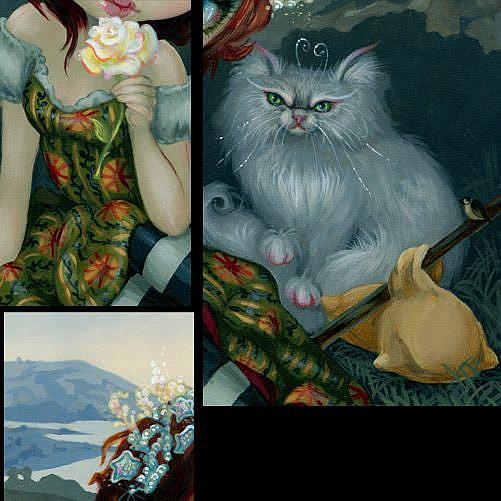 Jasmine Becket-Griffith art print white cat SIGNED Amanda Palmer Tarot The Fool