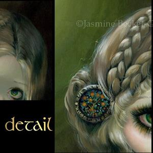 Detail Image for art Guinevere Had Green Eyes - original painting