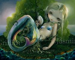 Art: Stranded - original painting at Pop Gallery Downtown Disney by Artist Jasmine Ann Becket-Griffith