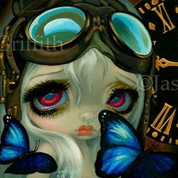 Art: Steampunk Fairy - Faces of Faery 217 by Artist Jasmine Ann Becket-Griffith
