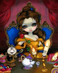 Art: Princess Belle :  Belle's Enchantment for Disneyland's WonderGround Gallery by Artist Jasmine Ann Becket-Griffith