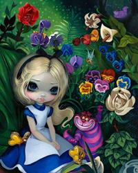 Art: AliceInTheGarden by Artist Jasmine Ann Becket-Griffith