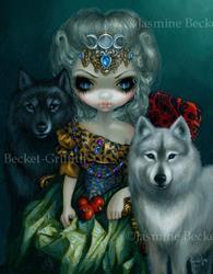 Art: Loup-Garou :  La Grande Pretresse by Artist Jasmine Ann Becket-Griffith