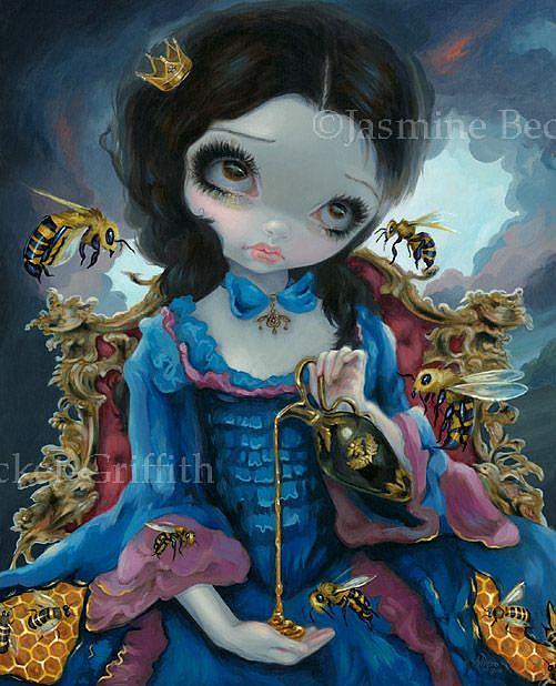 Art: Queen of Bees ORIGINAL PAINTING by Artist Jasmine Ann Becket-Griffith