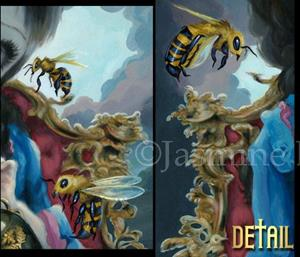 Detail Image for art Queen of Bees ORIGINAL PAINTING