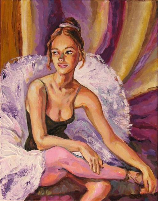 Art: Resting Ballerina by Artist Luda Angel