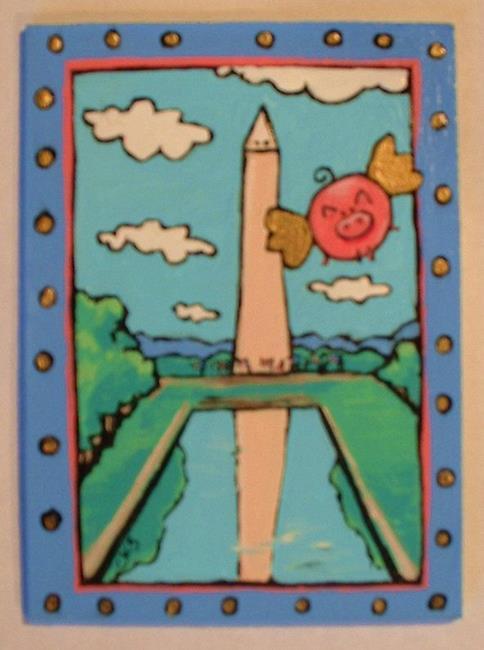 Art: US Travel #3: Washington, DC by Artist Cary Dunlap Daly