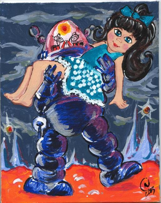Art: Telly Vs. the Robot by Artist Noelle Hunt