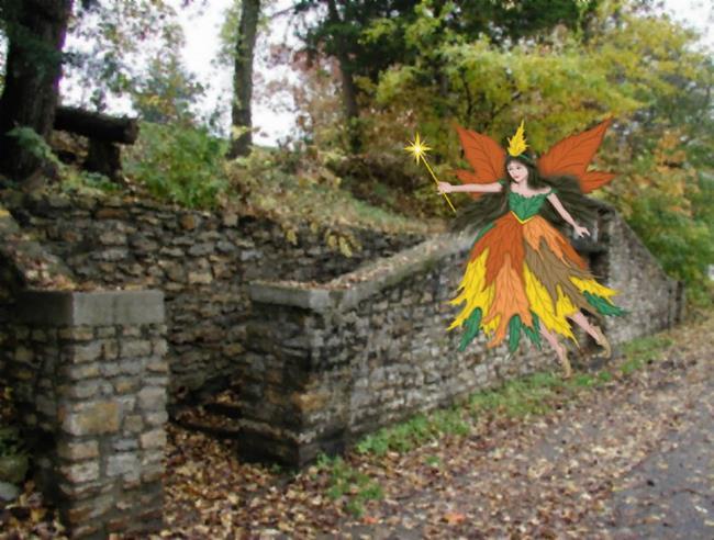 Art: The Autumn Fairy by Artist Peggi M Sargent