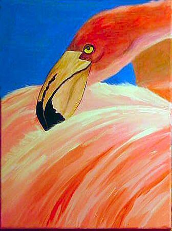 Art: Flamingo8 by Artist Dia Spriggs