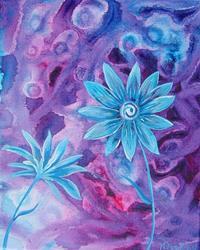Art: Blue Daises by Artist Padgett Mason