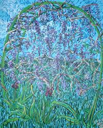 Art: Wisteria Arch in Mom's backyard by Artist Stefan Duncan