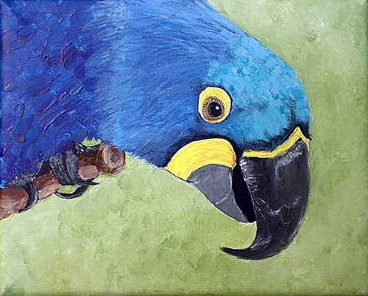 Art: Hyacinth Macaw by Artist Dia Spriggs