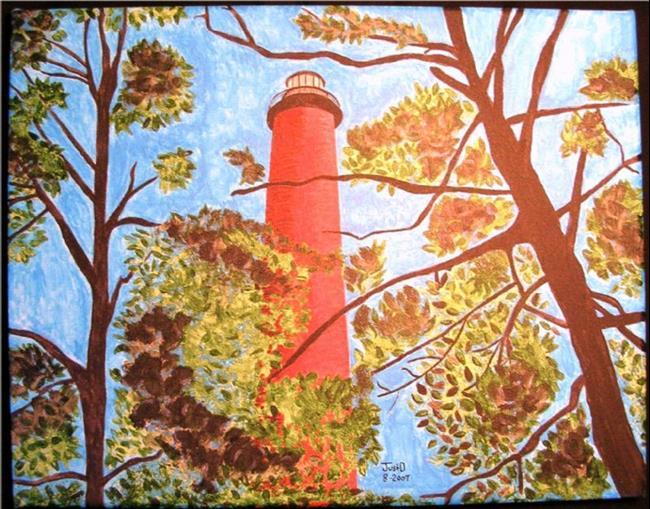 Art: Currituck Lighthouse by Artist Dee Turner