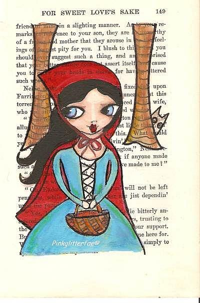 Art: red riding hood by Artist Betty Stoumbos