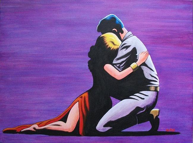 Art: LOVERS EMBRACE by Artist  Bryan Ward