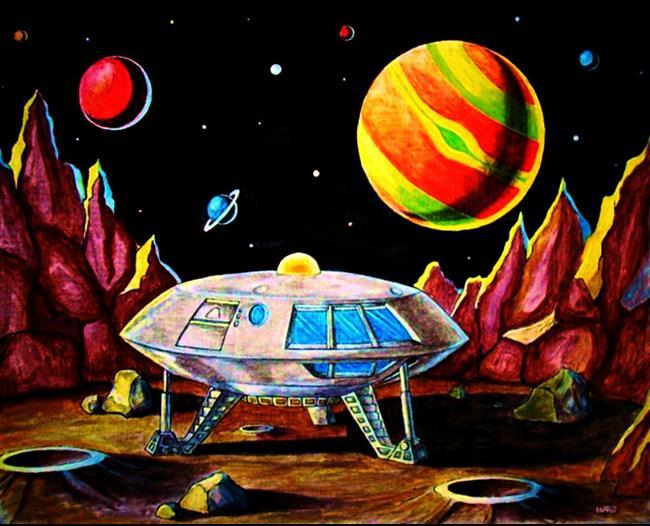 a spaceship landing on jupiter - photo #22