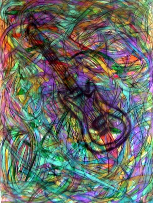 Art: ROCK AND ROLL PARTY by Artist Dawn Hough Sebaugh