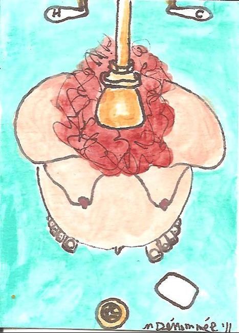 Art: Morning Shower at Seven Months by Artist Nancy Denommee