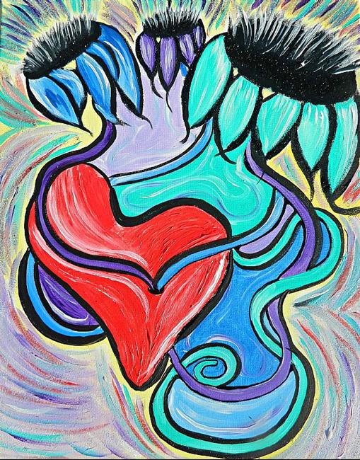 Art: The Way To Her Heart by Artist Deena Z. Raybuck