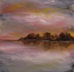 Art: Lakeside Morning. by Artist Windi Rosson