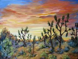 Art: California Joshua Trees by Artist Diane Funderburg Deam