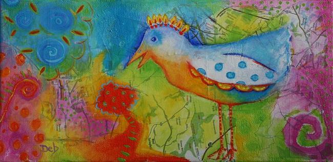 Art: Oiseau by Artist Deb Harvey
