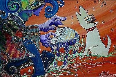 Art: Piano Man by Artist Laura Barbosa