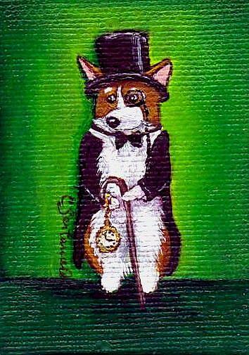Art: A Little Gentleman by Artist Cathy Santarsiero