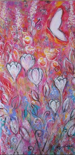 Art: Crocuses for Emily  by Artist Andrea Dodwell