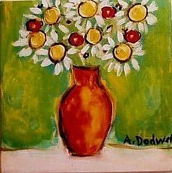 Art: Daisy Vase by Artist Andrea Dodwell