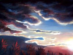 Art: Skyscape study by Artist Natasha Wescoat