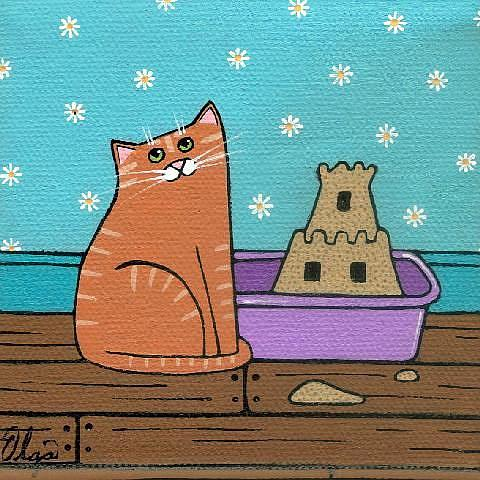 Art: when cat's get bored by Artist S. Olga Linville
