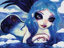 Art: Ice Mermaid by Artist Natasha Wescoat